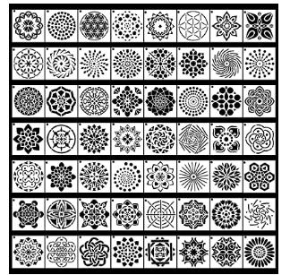 56 Pack Mandala Dot Painting Templates Stencils